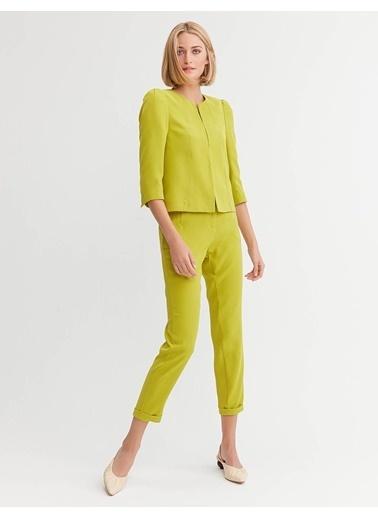 BGN Bgn Lime Blazer Kadın Ceket Sarı